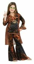 WOODSTOCK DIVA HIPPIE CHILD HALLOWEEN COSTUME GIRLS SIZE MEDIUM 8-10 - $23.02