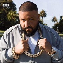 Large DJ Khaled 14K Gold Full Iced Out CZ Cuban Link Chain Necklace Brac... - $46.74