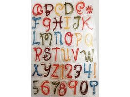 Uppercase with Numbers Alphabet Clear Stamp Set