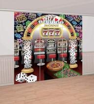 CASINO Scene Setter Birthday Party Wall Decoration Decor Backdrop Roll T... - $14.80