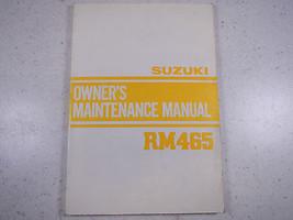 82 Suzuki RM465 Oem Nos Original Driver's Owner's Manuelle 1982 Rm 465 - $90.07