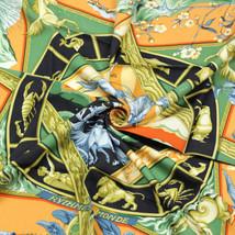 Auth Hermes Paris RYTHMES DU MONDE Silk Scarf Carre BOURTHOUMIEUX 90cm - $239.95