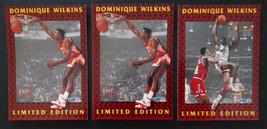 1991-92 Fleer Dominique Wilkins Atlanta Hawks Lot Of 3 Basketball Cards - $1.75