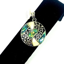 Lia Sophia GR BY LISA Slide Pendant Abalone Silver Tone Mother of Pearl  - $16.75