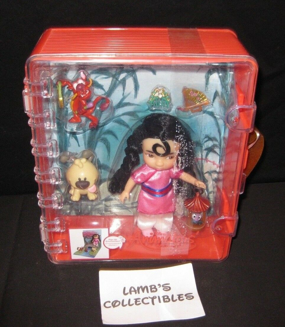 "Primary image for Disney Animator's collection Mulan 5"" mini doll play set action figure toys"