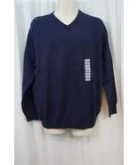JA John Ashford Mens Sweater Sz XL Navy Blue V Neck Essentials Casual Sw... - $25.26