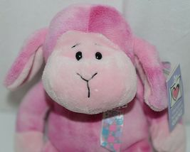 GANZ HE9835 Lambie 11 Inch Pink Tie Dye  With A Snowflake Bow image 5