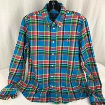Lauren Ralph Lauren Boys shirt design blue pink kids size 12 - $21.99