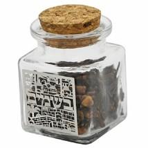 Judaica Havdalah Glass Spice Besamim Holder Box Laser Cut Plaque Jerusalem View