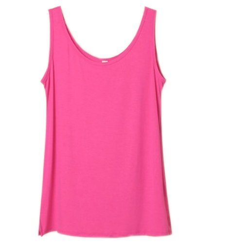 Simplicity Soft Zenana Women's Active Cami Camisole Cotton Basic Tank Top Red