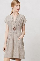 NWT $148 ANTHROPOLOGIE FIRST BLUSH LOVE PRINT BEIGE DRESS by LIL 2 - $44.99