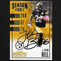 Le'Veon Bell autograph signed 2016 Panini card #86 Steelers  - $44.99
