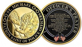 St. Michael Patron Saint Of Police Officers Prayer Military Challenge Coin - $25.38