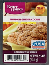 Pumpkin Ginger Cookie Better Homes and Gardens Scented Wax Cubes Tarts READ - $3.00