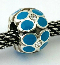 Brighton Ring of Flowers Turquoise Bead Silver Finish W/ Enamel, J9311C,  New - $12.35