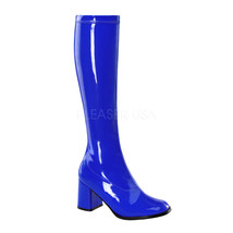 "FUNTASMA GOGO-300 Series 3"" Heel Knee-High Boots - Navy Blue Str Patent - $45.95"