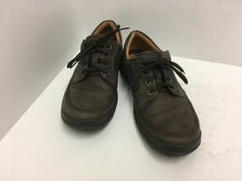 ECCO  Moc Toe Lace Up Oxfords Brown Leather Nubuck Shoes Mens EUR 43 / U... - $46.74