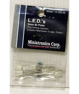 Miniatronics~12-250-05~5mm Bi-Polar LED's~Red/Green 3-Legs~NOS~MIB - $8.00