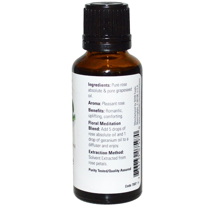 Now Foods, Essential Oils, Rose Absolute, 1 fl oz (30 ml) Aromatherapy