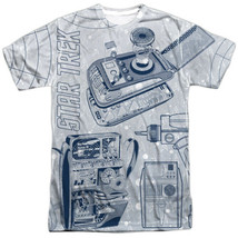 Star Trek Classic Gadgets Sublimation Front and Back Print T-Shirt NEW U... - $29.02+