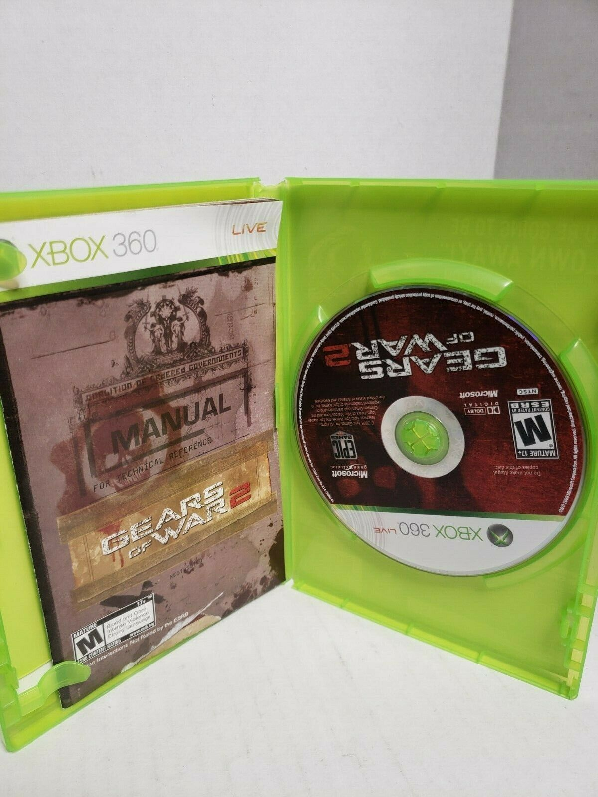 A1=Gears of War 2 (Microsoft Xbox 360, 2008) image 3