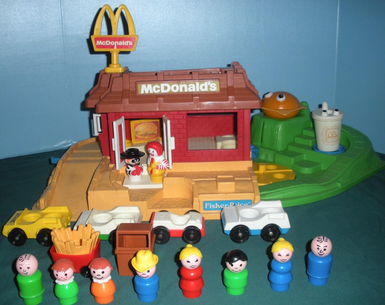 Vintage Fisher Price #2552 McDonald's Play Set Complete + BONUS!/VG++-EXC (N)