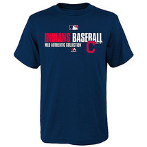 Boy's Cleveland Indians Shirt AC Team Favorite MLB Authentic Collection Tee