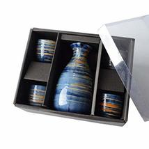5 PCS Japanese Liquor Sake Set Porcelain Traditional Ceramic Cups Crafts... - $44.22