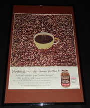 1955 Nescafe Instant Coffee Framed 11x17 ORIGINAL Advertising Display - $59.39