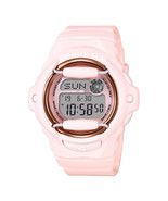 Casio Women's BG169G-4B Baby-G Pink and Grey Digital Dial Resin Strap Watch - $63.86