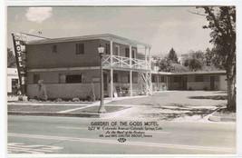 Garden Of Gods Motel Colorado Springs CO RPPC postcard - $7.92