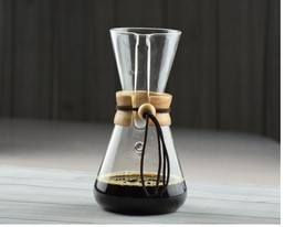DIY 1-pc 3 Cups Glass Chemex Style Coffee Hot Brewer Pot Heat Resistant - £22.52 GBP