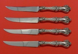 "Majestic by Alvin Sterling Silver Steak Knife Set 4pc HHWS  Custom Made 8 1/2"" - $281.30"