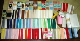 75-pc Lot Vintage Sewing Embellishments: Lace, Ribbon, Binding, Hem Facing, Trim - $24.40