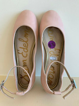 Sam Edelman Ankle Strap Flat Ballet Shoes Pink Size 6.5 Leather Ship Fast USA - $39.95