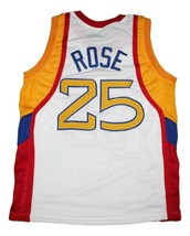 Derrick Rose #25 McDonalds All American New Men Basketball Jersey White Any Size image 2