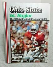 Ohio State Vs Baylor 1982 Game Program Tim Spencer Cover vintage magazine - $11.30