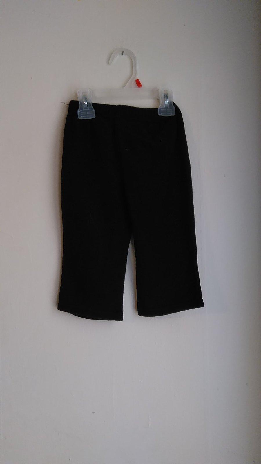 boys size 24m black sweat pants VMH269