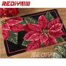 DIY Carpet Rug Red and Green Leaves 3D Latch Hook Rug Crocheting Tapestr... - $109.99
