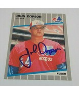 John Dopson Signed 1989 Fleer Card Autographed Montreal Expos - $3.50