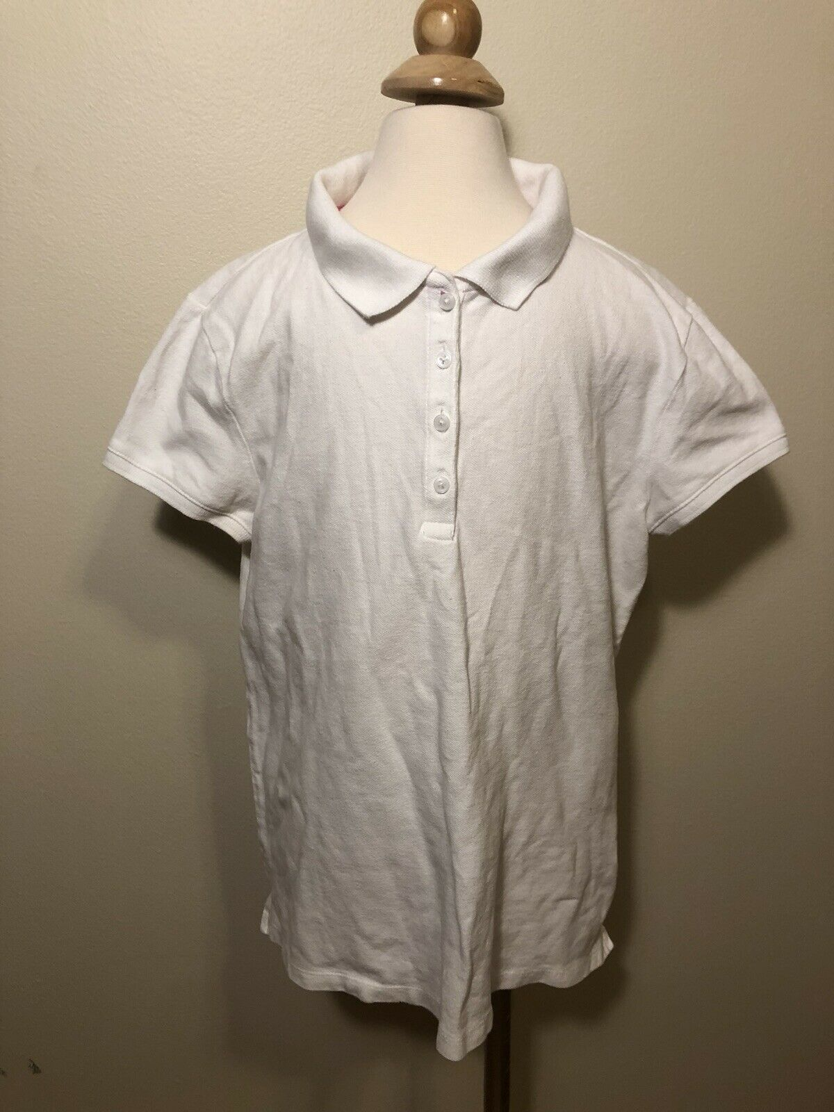 Gap Kids Girls Polo Shirt White Size Xxl(14-16)