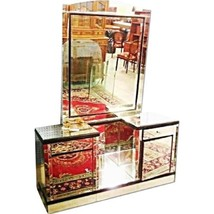 Art Deco Vanity Mirror Dresser Mid Century Modern End Side Tables Chest ... - $3,602.64