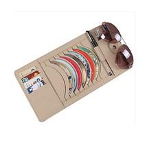 PANDA SUPERSTORE Leather 9 PCS CD DVD Car Auto Visor Organizer Holder Case image 2