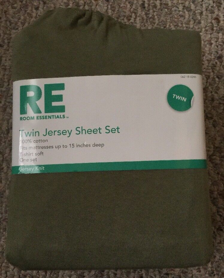 RE ROOM.ESSENTIAL Twin Jersey Sheet set ~NEW