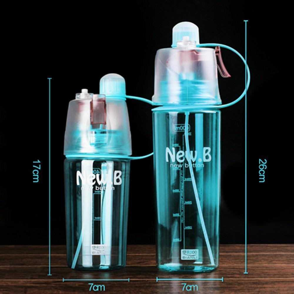 400ML 600ML Sport Spray Water Bottle Portable Creative Bottle With Mist Spray