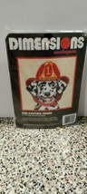 "Dimensions Needlepoint Cross Stitch Fire-Fighting Dog Friend Dalmatian 5""x5"" Kit - $8.59"