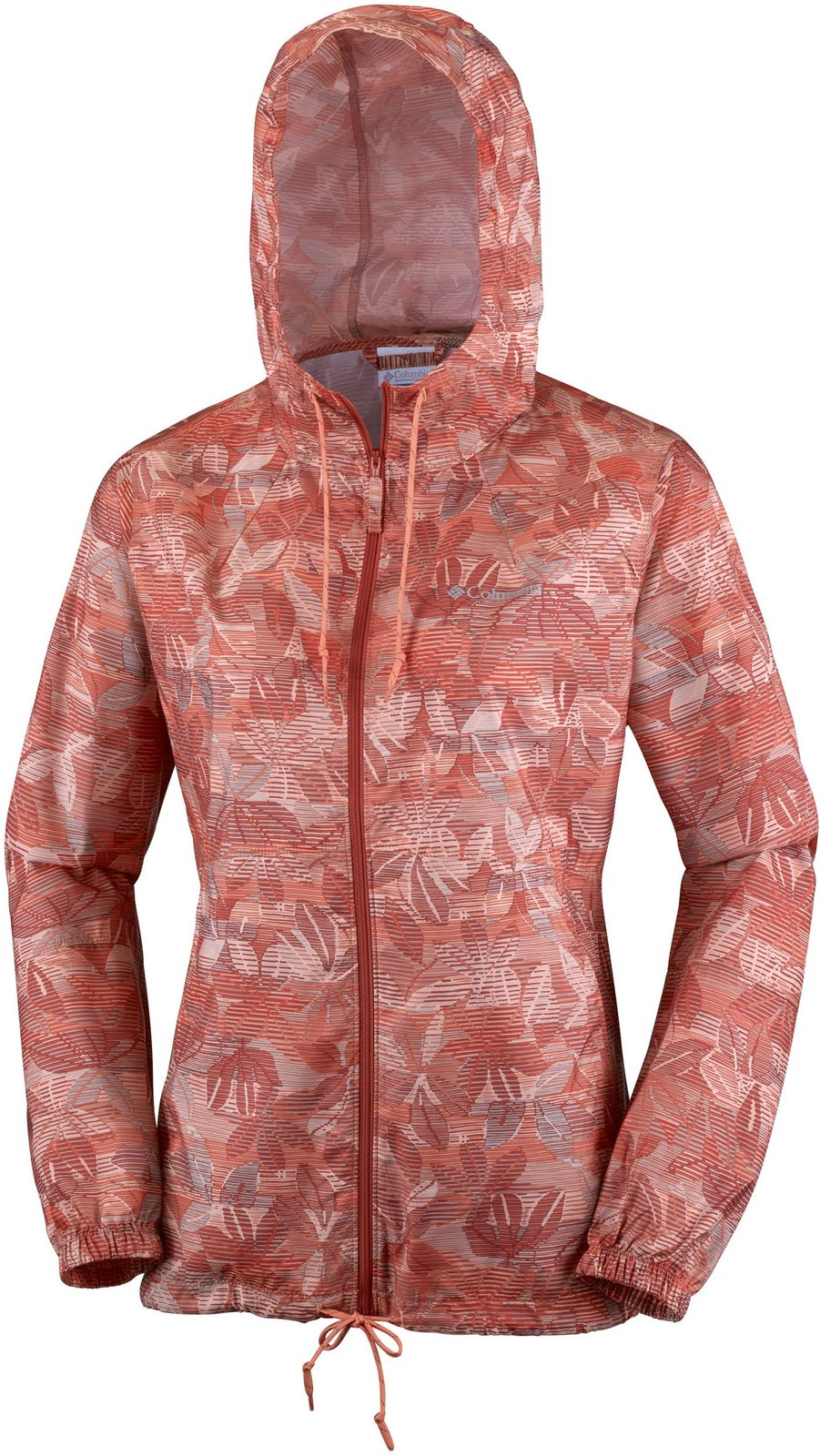 Columbia Women's Flash Forward Printed Windbreaker, Lychee Flora Lines, X-Small