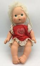"Strawberry Shortcake BABY APRICOT Doll Blows Kisses Vinyl Cloth 13"" 1982 #2 - $16.95"