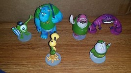 Disney pixar MONSTERS INC. Toy Figures Cake Toppers Sulley Randall Mike... - $14.00