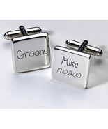 Personalised Wedding Cuff links Unique Keepsake Favour Gift, Present for... - $38.48